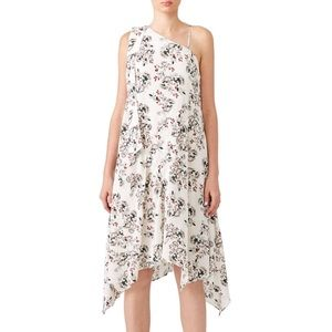 Elliatt Floral Pleated Shift Dress Asymmetrical
